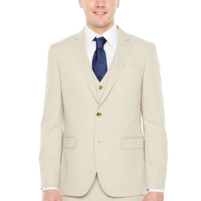 JF J.Ferrar Tan Texture Slim Fit Stretch Suit Jacket