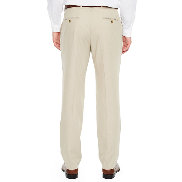 JF J.Ferrar Tan Stretch Suit Pant Stretch Slim Fit Suit Pants