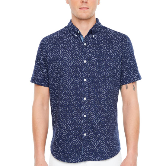 Jmco Short Sleeve Floral Button-Front Shirt