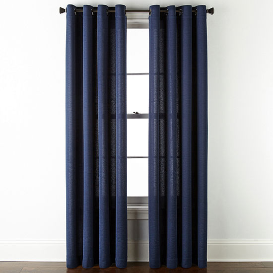 JCPenney Home Arista Sheer Grommet-Top Single Curtain Panel