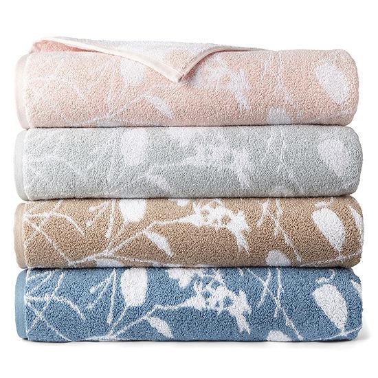 Liz Claiborne Floret Yarn Dyed Bath Towels Hand Towel
