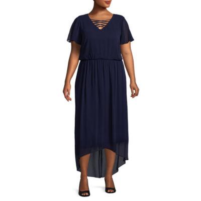 Alyx Short Sleeve Maxi Dress - Plus