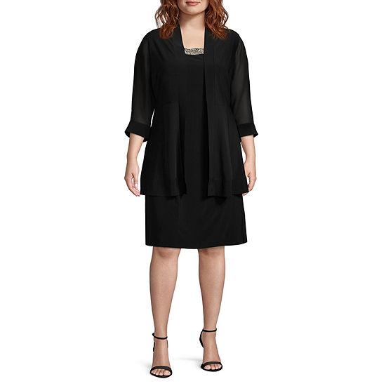 Scarlett Sleeveless Jacket Dress - Plus