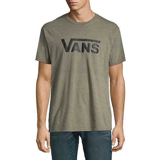 Vans Mens Crew Neck Short Sleeve Logo Graphic T Shirt