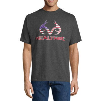 Realtree Americana Short Sleeve Crew Neck T-Shirt