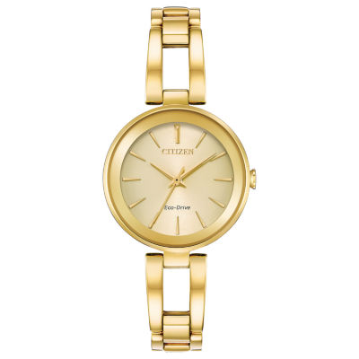 Citizen Womens Gold Tone Bangle Watch-Em0638-50p