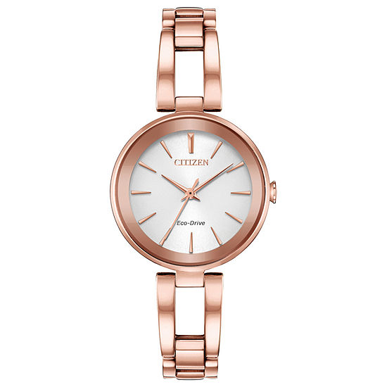 Citizen Axiom Womens Rose Goldtone Stainless Steel Bangle Watch-Em0633-53a