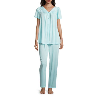 Collette By Miss Elaine 2-pc. Tricot Pant Pajama Set