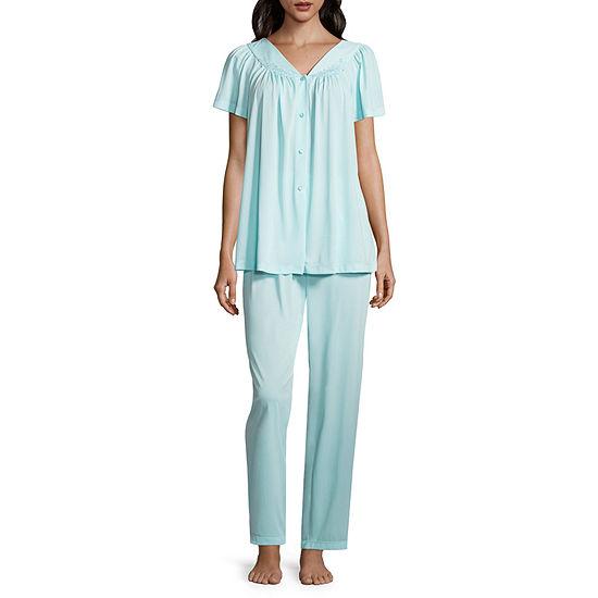Collette By Miss Elaine 2-pc. Tricot Pant Pajama Set