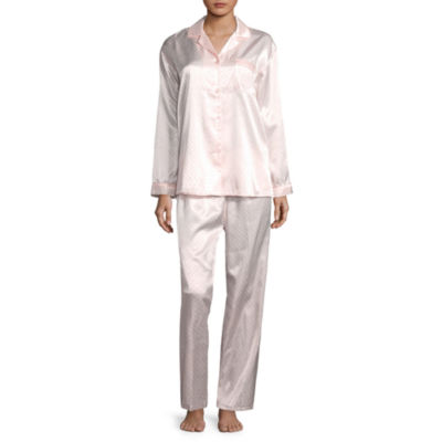 Collette by Miss Elaine Brushback Satin Pajama Set
