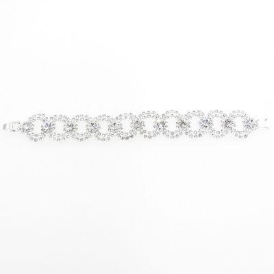 Vieste Rosa Silver Tone Brass 7.5 Inch Link Link Bracelet