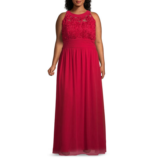 Scarlett Sleeveless Evening Gown - Plus