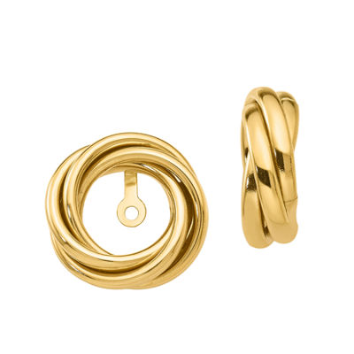 14K Gold Knot Earring Jackets