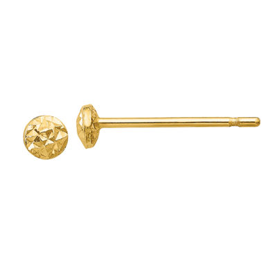 14K Gold 3mm Round Stud Earrings