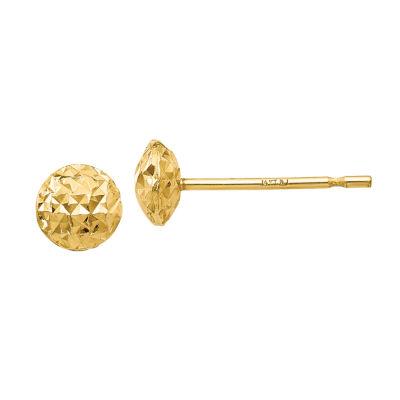 14K Gold 5mm Round Stud Earrings