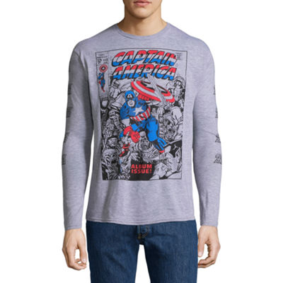 Captain America Long Sleeve Graphic Tee