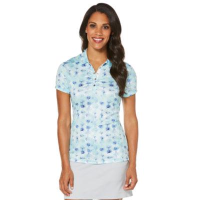 PGA TOUR Easy Care Short Sleeve Abstract Polo Shirt