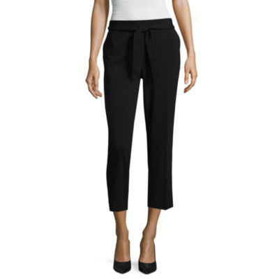 Worthington Tie Front Cropped Pant- Talls