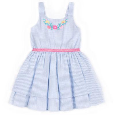 Girls Rule Sleeveless Seersucker Dress - Baby Girls
