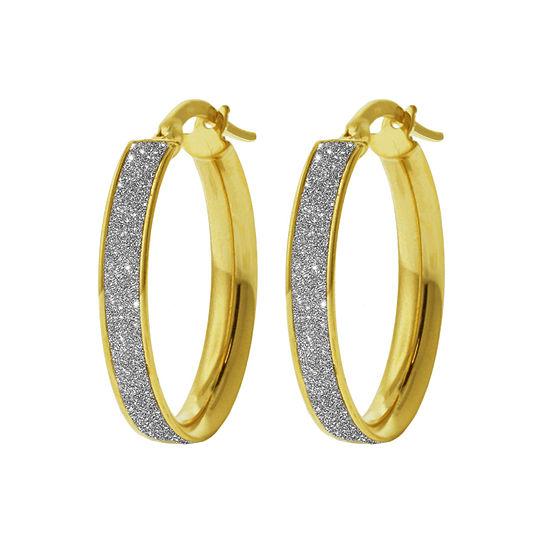 Made In Italy 14K Gold 20mm Hoop Earrings