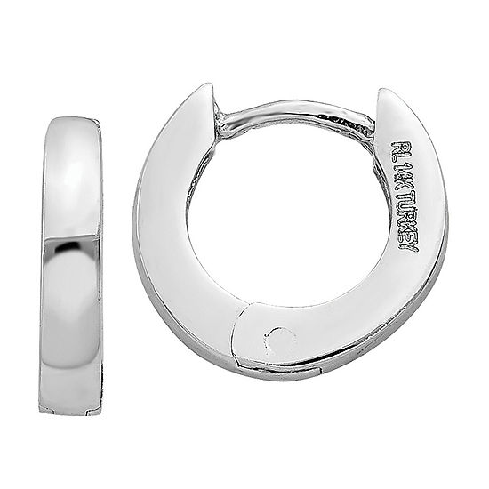 bfd1e5a54 14K White Gold 6mm Round Hoop Earrings