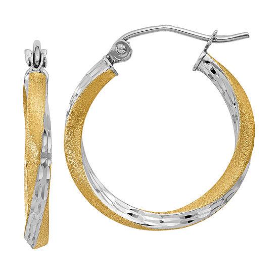 14K Gold 20mm Round Hoop Earrings