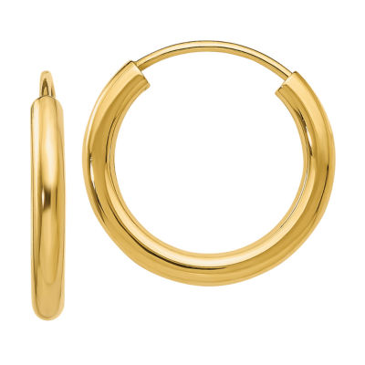 14K Gold Hoop Earrings