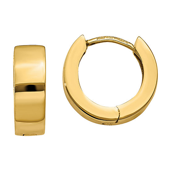 14K Gold 9mm Round Hoop Earrings