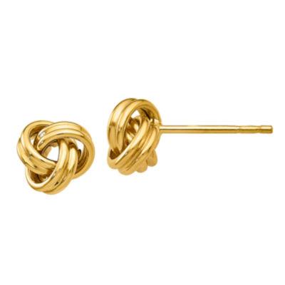 14K Gold 7mm Knot Stud Earrings