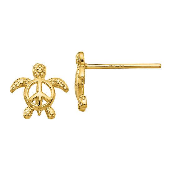 14K Gold 9mm Stud Earrings