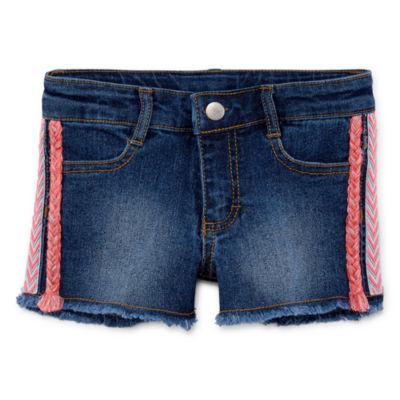 Okie Dokie Denim Shortie Shorts - Toddler Girls