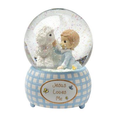 Precious Moments Snow Globe Baby Milestones - Boys