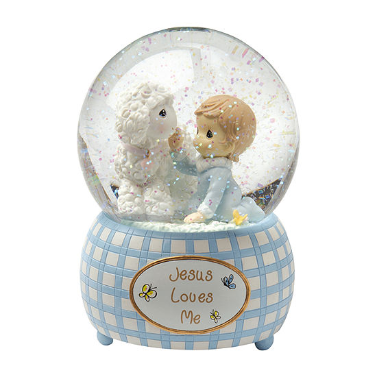 Precious Moments Snow Globe Baby Milestones Boys
