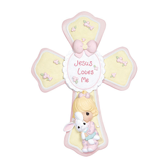 Precious Moments Girl With Bunny Cross Baby Milestones - Unisex