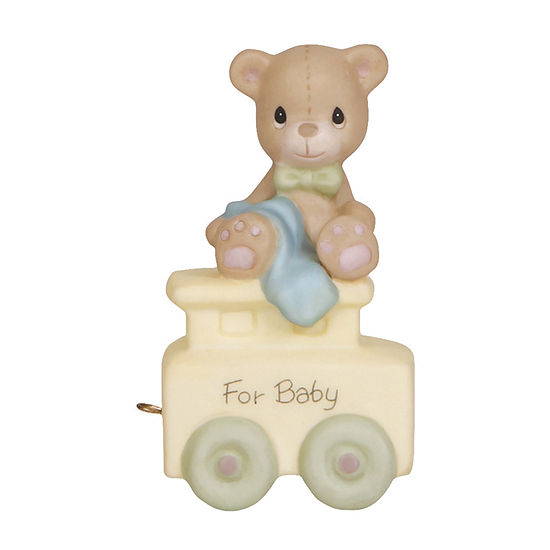 Precious Moments Birthday Train Baby Bear Figurine Baby Milestones - Unisex