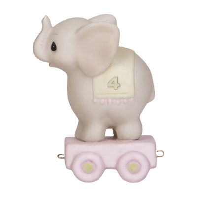 Precious Moments Birthday Train Elephant Age 4 Figurine Baby Milestones - Unisex