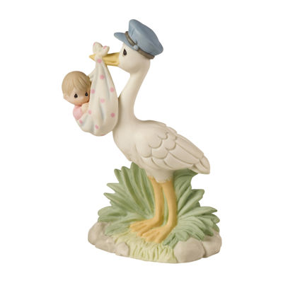 Precious Moments Baby Girl With Stork Figurine Milestones - Unisex