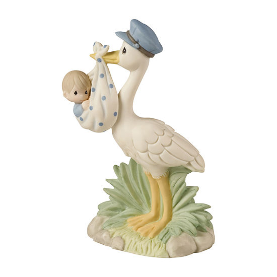 Precious Moments Baby Boy With Stork Figurine Baby Milestones Unisex