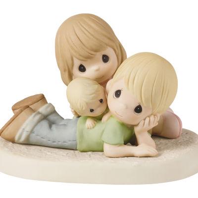 Precious Moments Couple With Baby Figurine Baby Milestones - Unisex