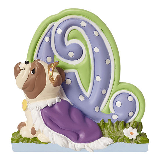 Precious Moments Letter Q Figurine Baby Milestones Unisex