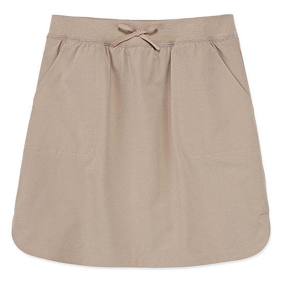 IZOD Comfort Waistband Little & Big Girls Elastic Waist Scooter Skirt
