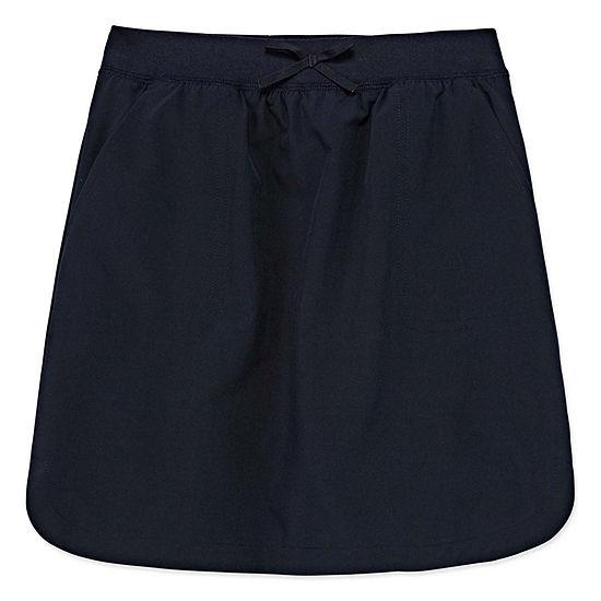 IZOD Comfort Waistband Little & Big Girls Elastic Waist Scooter Skirt