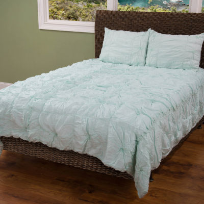 Rizzy Home Sara Solid Knotted Quilt