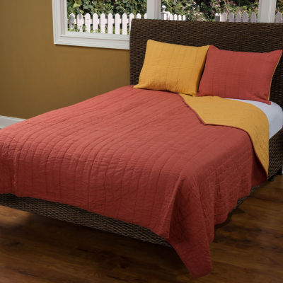 Rizzy Home Adalynn Reversible Solid Quilt