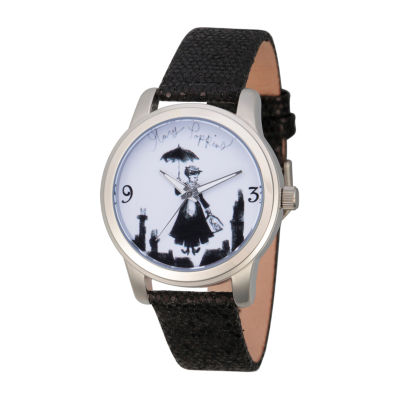 Disney Womens Black Strap Watch-Wds000628