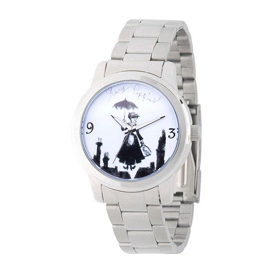 Disney Womens Silver Tone Bracelet Watch Wds000631