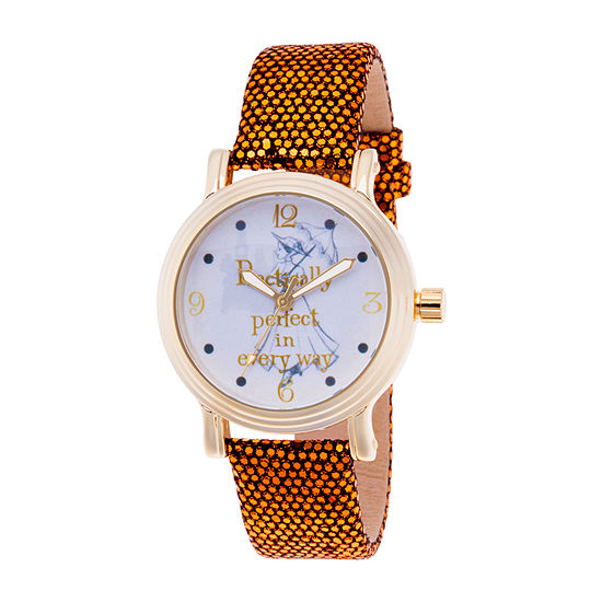 Disney Womens Gold Tone Strap Watch-Wds000633