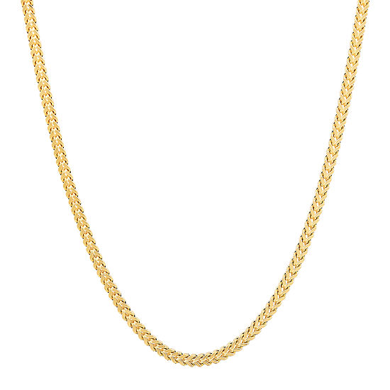 14K Gold 22 Inch Hollow Curb Chain Necklace
