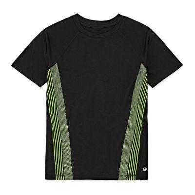 Xersion Boys Crew Neck Short Sleeve T-Shirt Preschool / Big Kid Husky