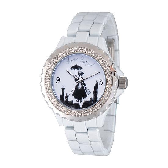 Disney Womens White Bracelet Watch Wds000636